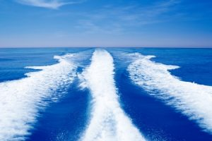 Deep Sea Fishing Blue Sea on a Sunny Day