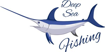 Big game fishing swordfish